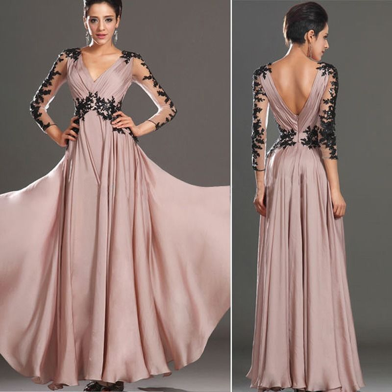 3120e6126a1 Sexy Long Lace Chiffon Evening Formal Party Cocktail Bridesmaid Prom Gown  Dress